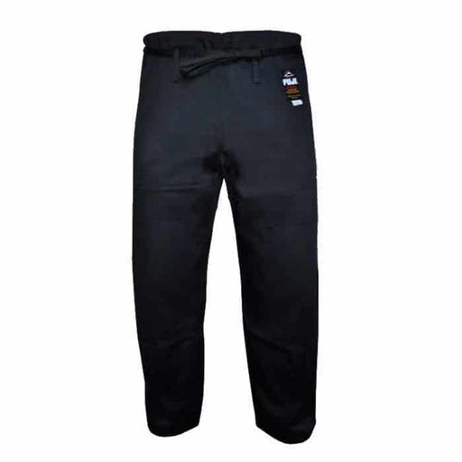 FUJI Jiu-Jitsu Pants Black 100% Cotton BJJ Cut A1-A6 - MMA DIRECT