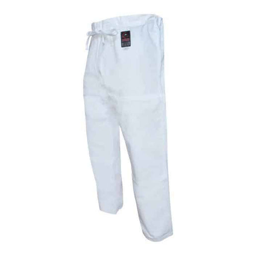 FUJI Jiu-Jitsu Pants White 100% Cotton BJJ Cut A1-A6 - MMA DIRECT