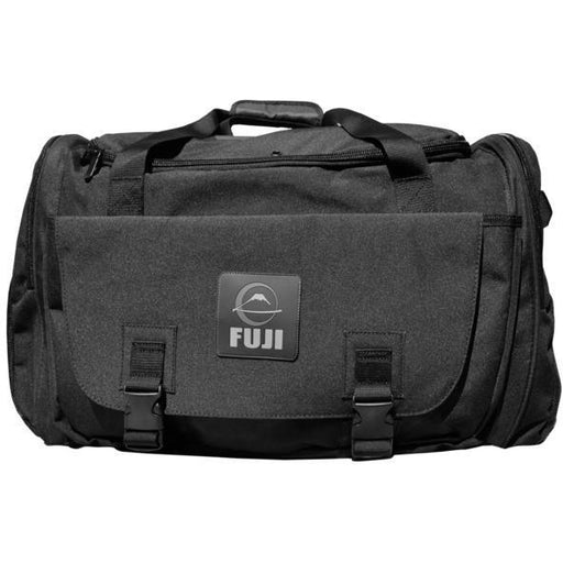 FUJI High Capacity Duffle Bag - Black MMA Boxing Muay Thai Gym Gear FDBBLK - MMA DIRECT