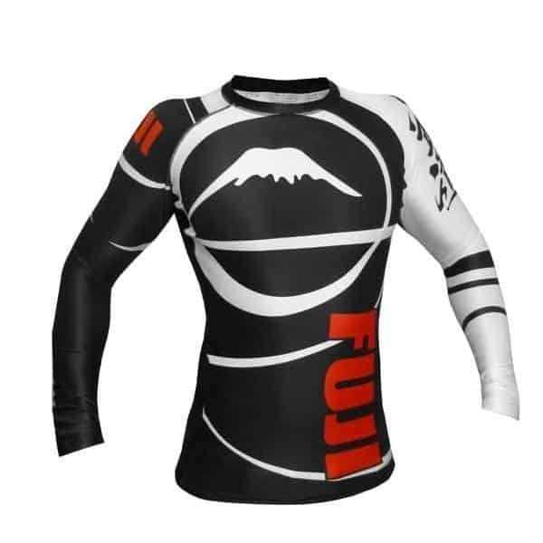 FUJI Freestyle IBJJF Approved Long Sleeve Rash Guard Black MMA BJJ Thai - MMA DIRECT