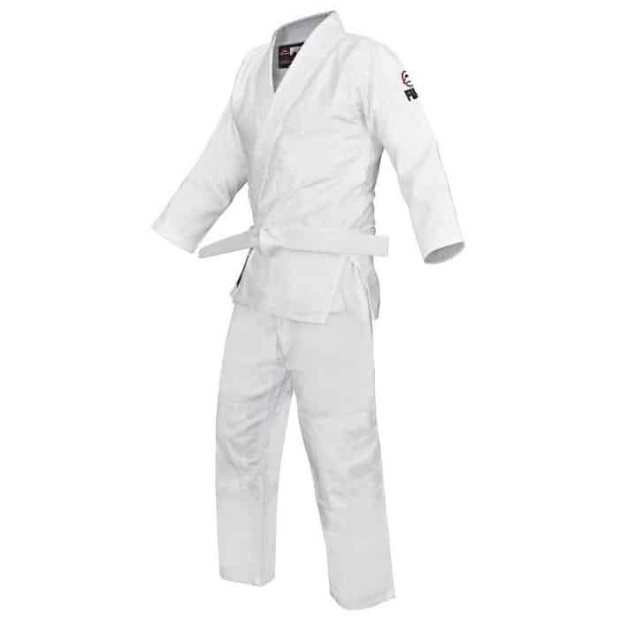 FUJI Competition Double Judo Gi White Tough Jacket & Pants Heavy Duty - MMA DIRECT
