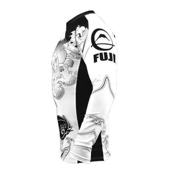 FUJI Sakana Rash Guard Long Sleeve MMA BJJ Thai Workout Gear - MMA DIRECT