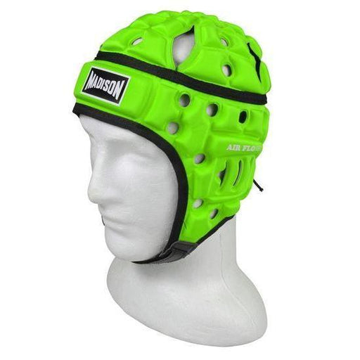 Madison Air Flo Neon Headguard - Green Rugby League NRL - Sports Grade