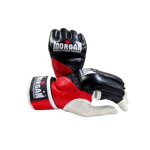 Morgan V2 Platinum Italian Leather MMA Gloves Reactive Padding - MMA DIRECT