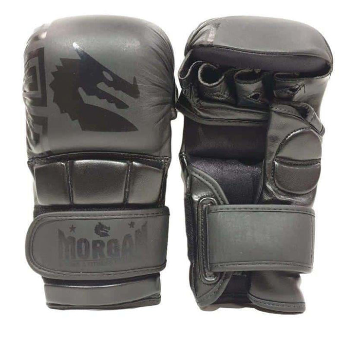 Morgan B2 Bomber Leather Shoto MMA Sparring Gloves - MMA DIRECT
