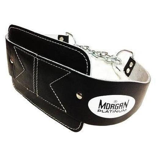 Morgan Platinum Leather Dipping Weight Lifting Belt Commercial Grade LB-6 - MMA DIRECT