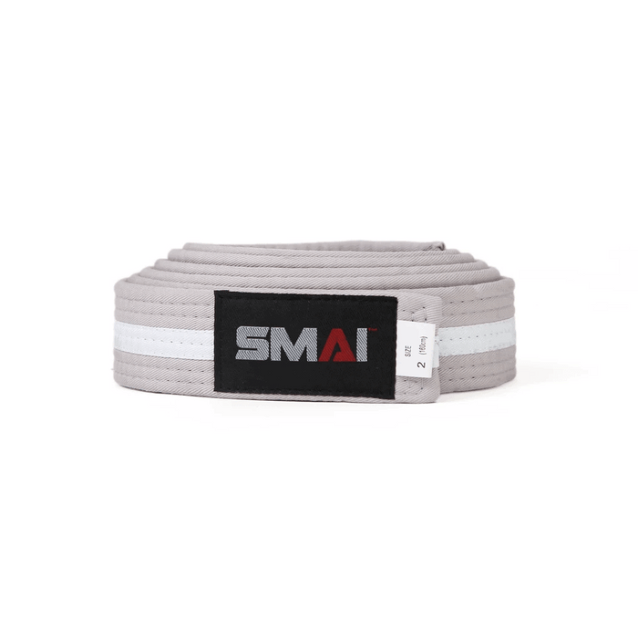 SMAI - Belt - White Stripe - MMA DIRECT