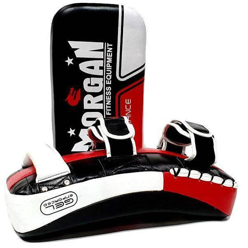 Morgan Endurance Gel Leather Curved Thai Pads (PAIR) - MMA DIRECT