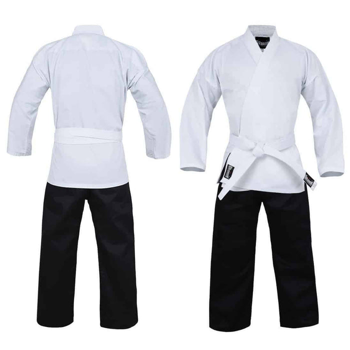 Dragon Karate Salt & Pepper Uniform (8oz) + Belt