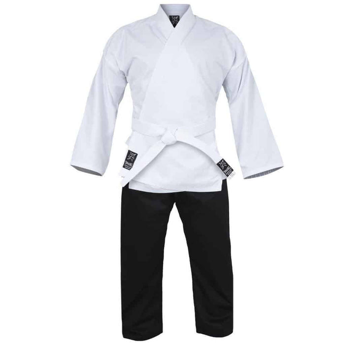 Yamasaki Pro Salt & Pepper Karate Uniform (10oz) Black & White + Belt