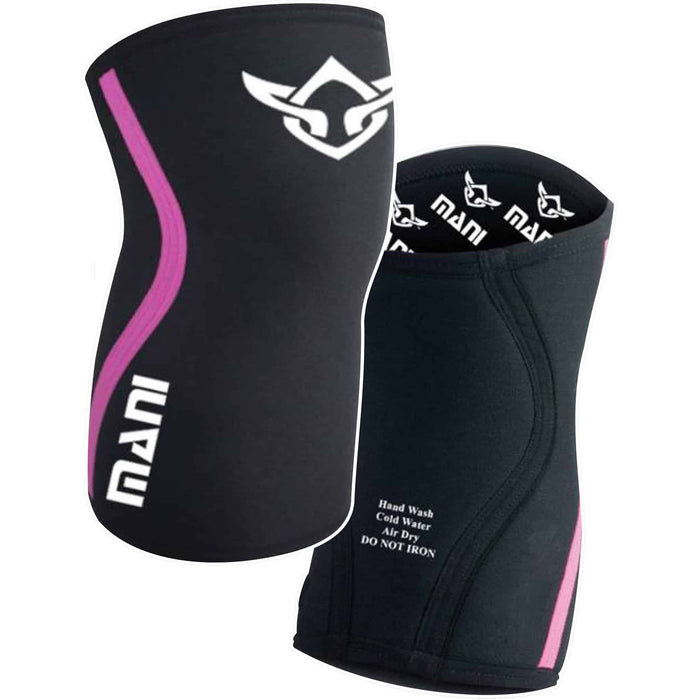 MANI Pink Knee / Elbow Weight Lifting Fitness Gym Sleeve Guard Protection - MMA DIRECT