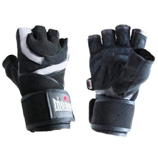 Morgan Endurance Weight Lifting & Crossfit Training Gloves Black & White - MMA DIRECT