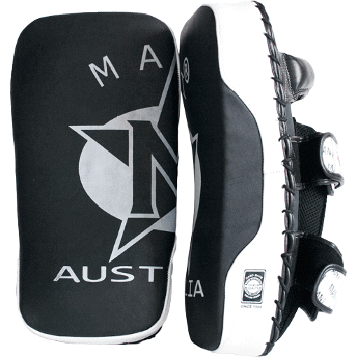 Mani Leather Muay Thai Pads Strike Shield Pre-Curved (PAIR) Kick Boxing / MMA - MMA DIRECT