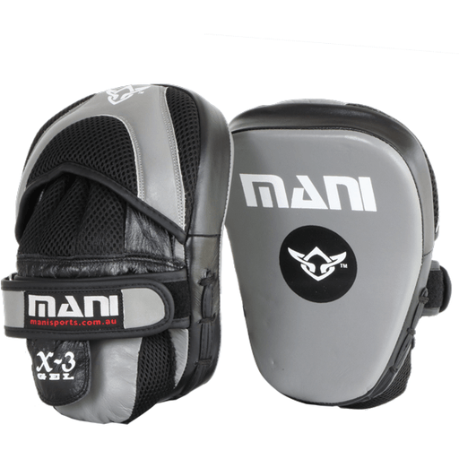 Mani Pro Gel Leather Curved Focus Pad Boxing MMA Muay Thai Training MFP-500 - MMA DIRECT