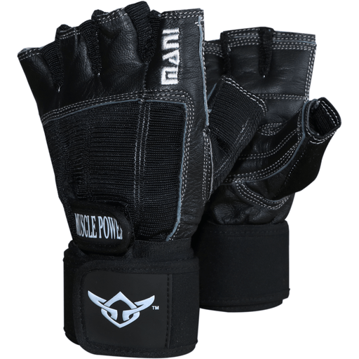 MANI Deluxe Leather Muscle Power Weight Lifting Padded Gloves [XS/S/M/L/XL] - MMA DIRECT