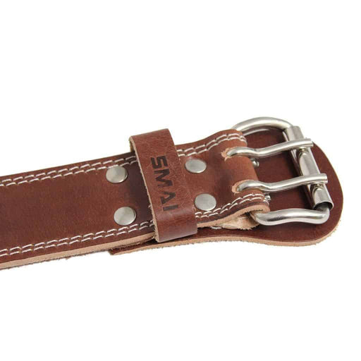 SMAI - Weight Lifting Belt - Brown Leather - MMA DIRECT
