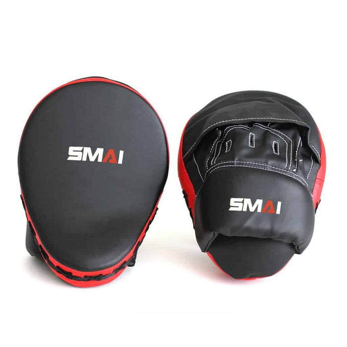 SMAI Focus Mitt Pad Syntec Black and Red - MMA DIRECT
