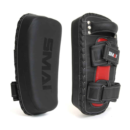 SMAI Elite85 Thai Pads Pair Black and Red - MMA DIRECT