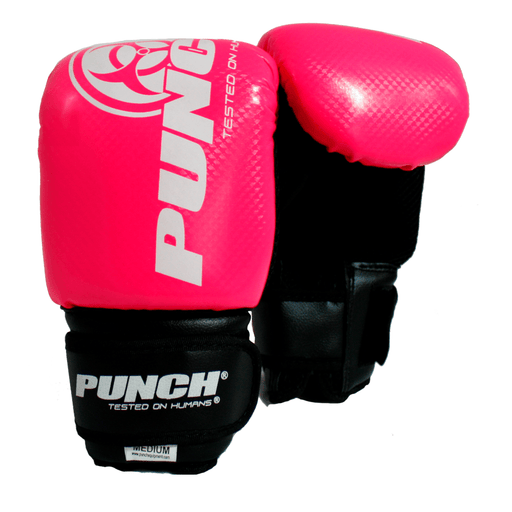 PUNCH Junior Kids Urban Bag Mitts - Black / Blue / Pink / Red - MMA DIRECT