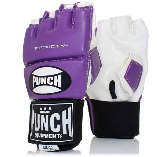 PUNCH Debt Collectors MMA Mitts Bag Cut Finger Training Gloves - MMA DIRECT
