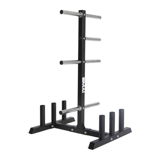 SMAI - Olympic Bumper Plate Tree & Barbell Holder - MMA DIRECT