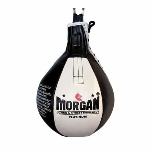 Morgan Platinum Leather 12 inch Punching Speedball + Free Extra Bladder - MMA DIRECT