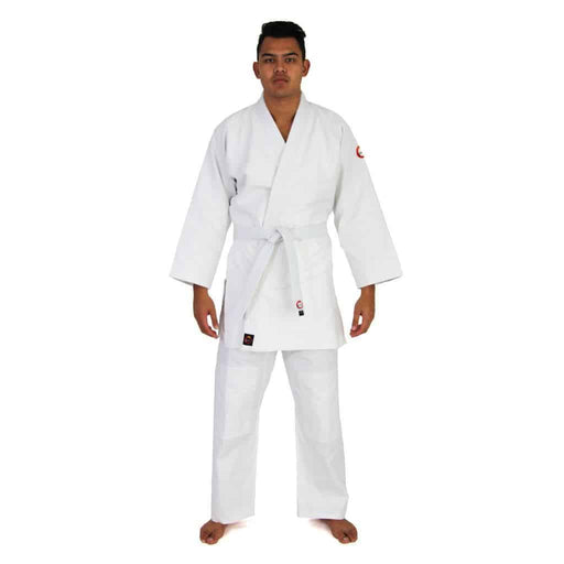 SMAI Judo Uniform Single Weave Gi (White) Double Stitched + White Belt - MMA DIRECT