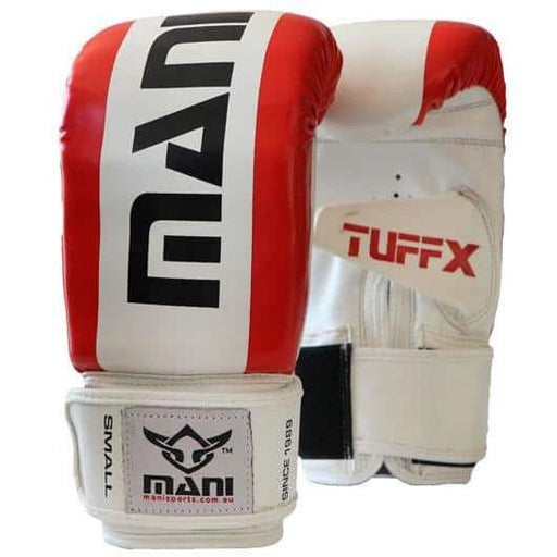 Mani TUFFX Pre-Curved Bag Mitts Boxing / MMA Training Gloves RED - MMA DIRECT
