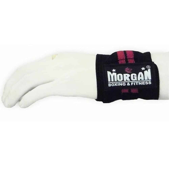 Morgan PAIR Elasticated Wrist Guard Injury Recovery Protection Pro Grade WG-2 - MMA DIRECT