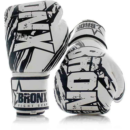 PUNCH White Bronx Boxing Training Workout Gloves - MMA DIRECT