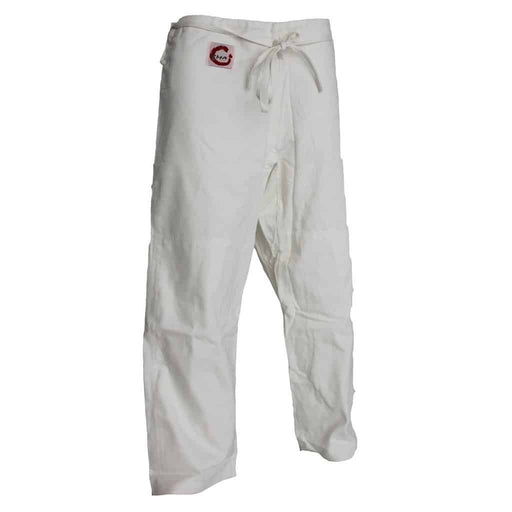 SMAI Judo Uniform Pants Single Weave 450gsm (White) 100% Cotton - MMA DIRECT