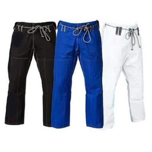 ACE Ripstop Gi Pants Fight Gear BJJ Grappling MMA UFC Jiu Jitsu Black Blue White - MMA DIRECT