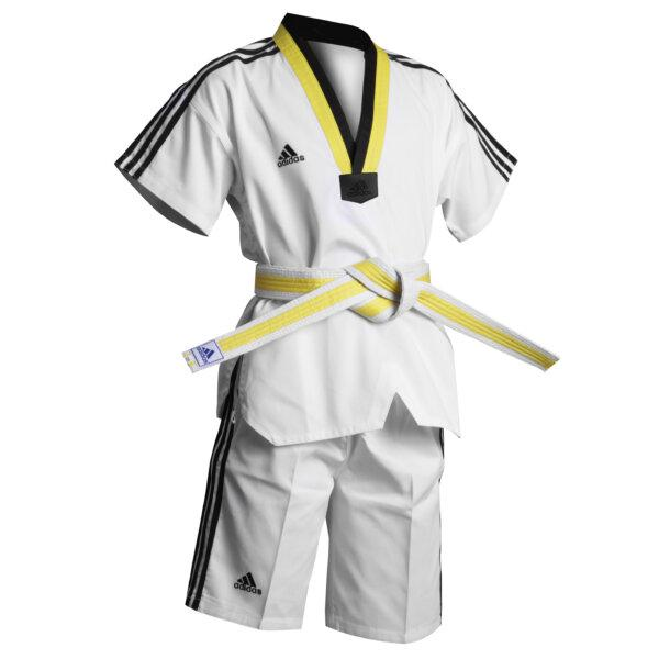 Adidas Kids Summer Taekwondo Dobok Uniform Gi Multi Coloured V Neck
