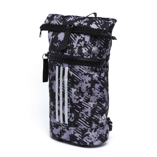 Adidas Large Military Gym Sports Gear Bag Black & Silver Camo - MMA DIRECT