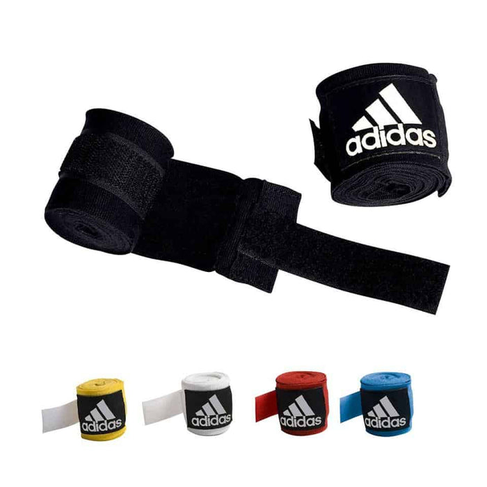 Adidas Hand Wraps with Thumb Loop 5cmx4.5cm Black/Blue/Yellow/White/Red - MMA DIRECT
