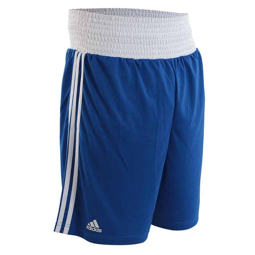 Adidas AIBA Approved Shorts Blue/Red 100% Lightweight Polyester Athletic Cut - MMA DIRECT