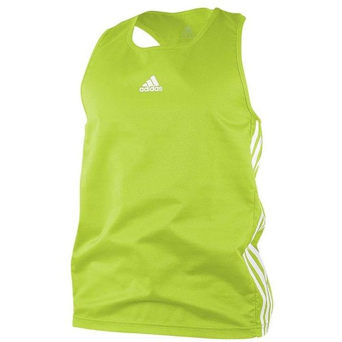 Adidas Boxing Top Fluro Green/White Lightweight Fightwear / Gym Apparel - MMA DIRECT