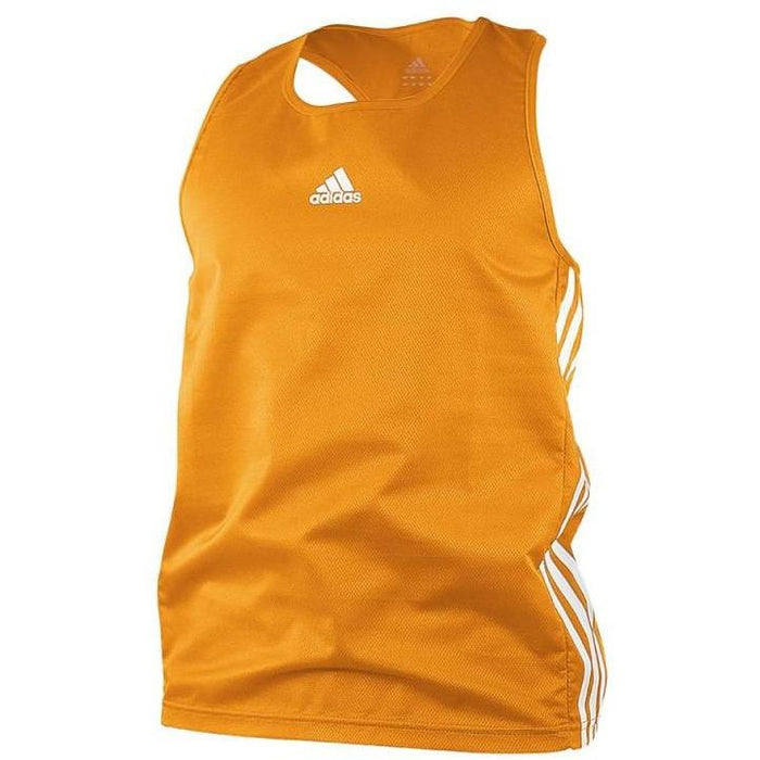 Adidas Boxing Top Orange/White Lightweight Fightwear / Gym Apparel - MMA DIRECT