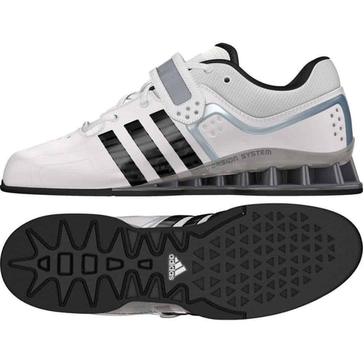 Adidas Adipower Weightlifting Shoes White Lace Up Support Stability ADIGWM25733 - MMA DIRECT