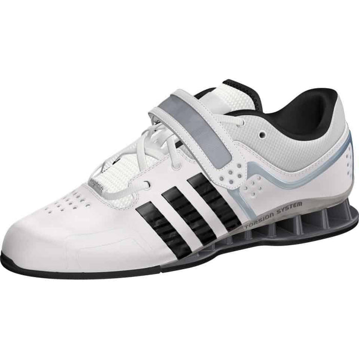 Adidas Adipower Weightlifting Shoes White Lace Up Support Stability ADIGWM25733