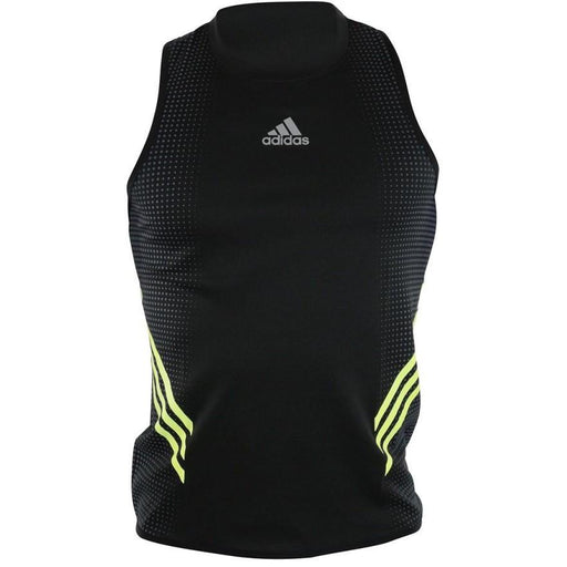 Adidas Mens Pro Tank Black/Yellow Climacool Back Mesh Ventilation ADISPT01 - MMA DIRECT