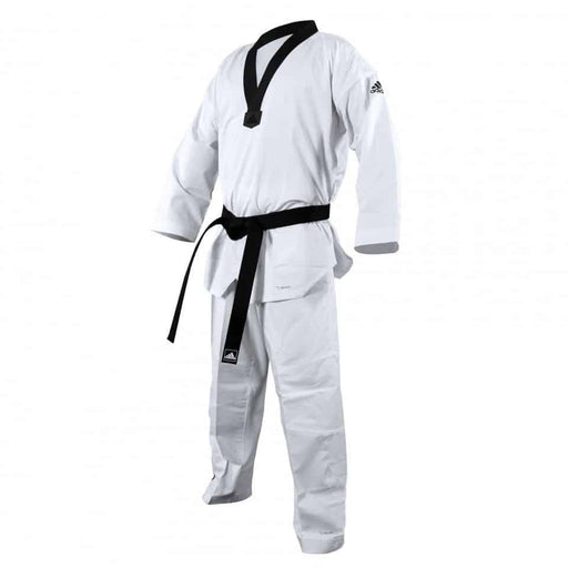 Adidas Taekwondo ADI-Fighter Junior Gi Uniform Dobok WT Approved No Stripes - MMA DIRECT