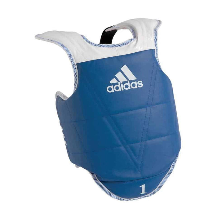 Adidas Taekwondo Kids Childrens Junior Reversible Body Chest Protector Blue Red - MMA DIRECT