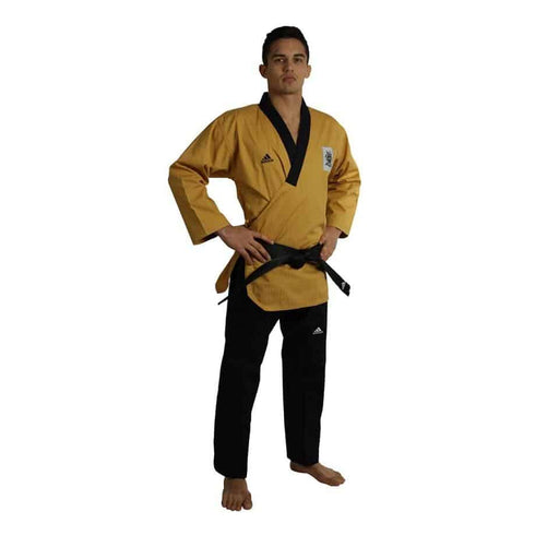Adidas Taekwondo Poomsae Master Uniform Gi Dobok Gold & Black - MMA DIRECT