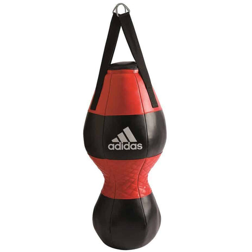 Adidas Double End Punching Bag 33x82cm Black/Red/White Gym Equipment ADXBAC28 - MMA DIRECT