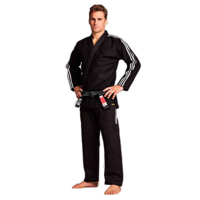 Adidas BJJ Brazilian Jiu Jitsu Contest BLACK Gi Uniform + FREE Adidas Carry Bag - MMA DIRECT