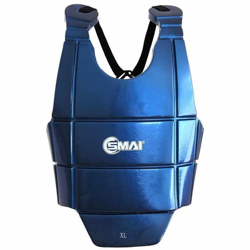 SMAI Dipped Martial Arts Chest Guard Protective Equipment Red/Blue P154-JNR P014 - MMA DIRECT