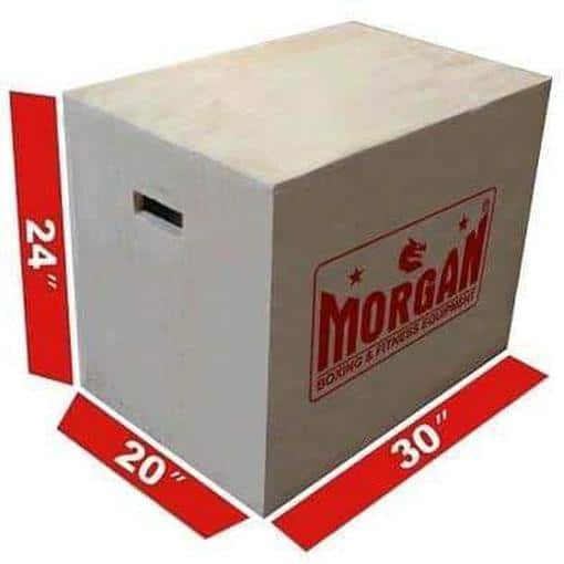 Morgan 3 in 1 Cross Functional Fitness Wooden Plyometric Box Pro Grade Workout - MMA DIRECT