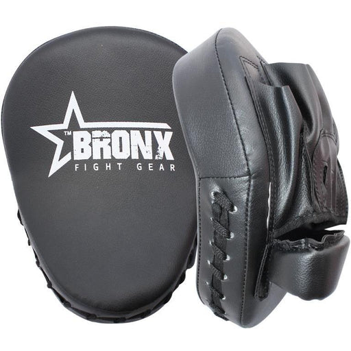 Bronx Black Focus Pads Wrist Support Boxing Training MMA Martial Arts Fitness - MMA DIRECT
