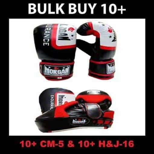 Morgan Bulk Endurance Focus Pads & Bag Mitts Boxing Trainers/Coaching Kit x10 - MMA DIRECT